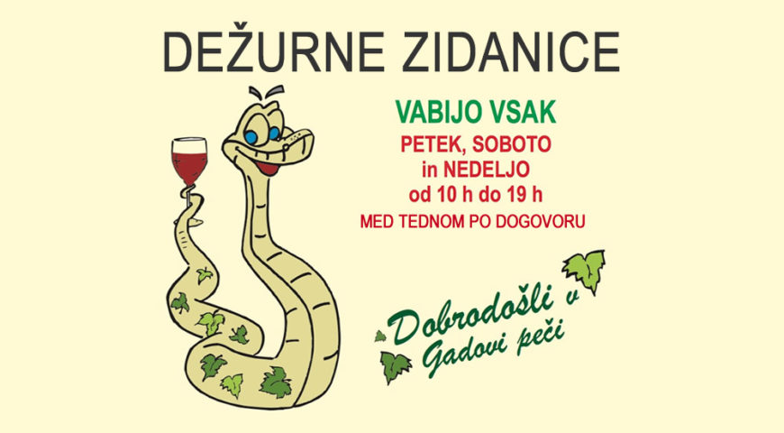 Dežurne zidanice V-TD GADOVA PEČ 21.07.2017 do 27.07.2017